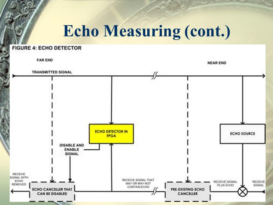 Echo Measuring (cont.)