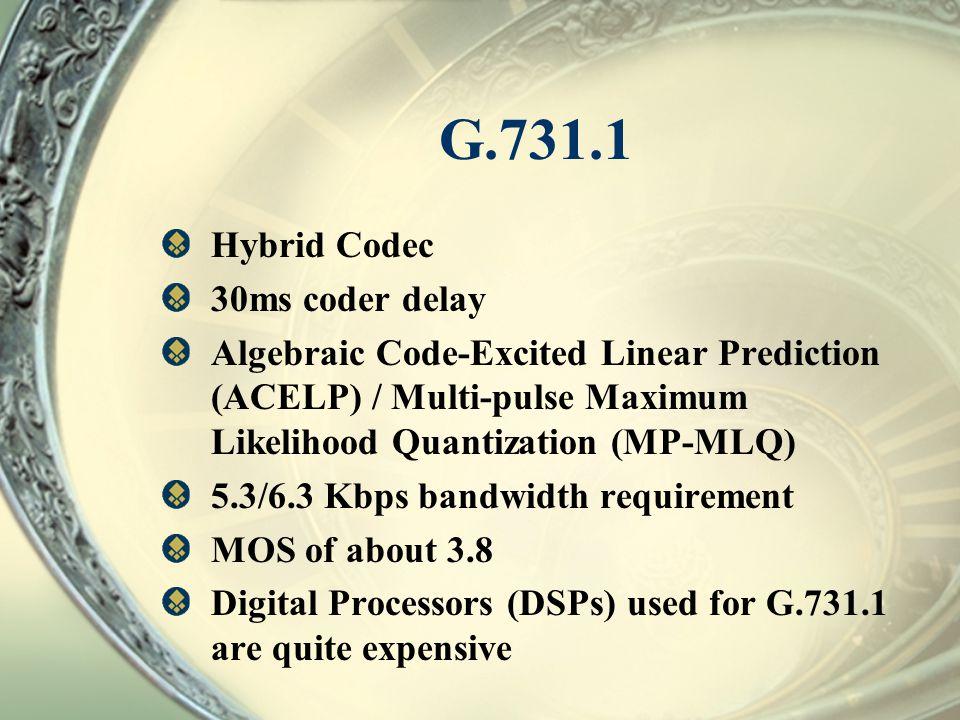 G.731.1 Hybrid Codec 30ms coder delay