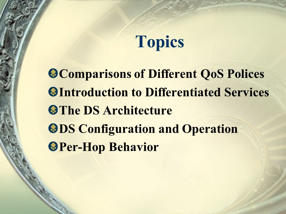 Topics Comparisons of Different QoS Polices