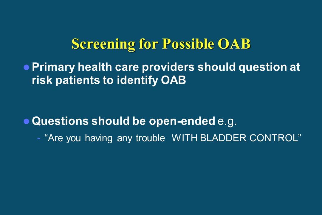 Screening for Possible OAB