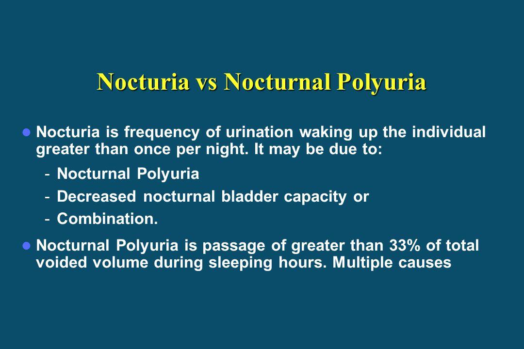 Nocturia vs Nocturnal Polyuria