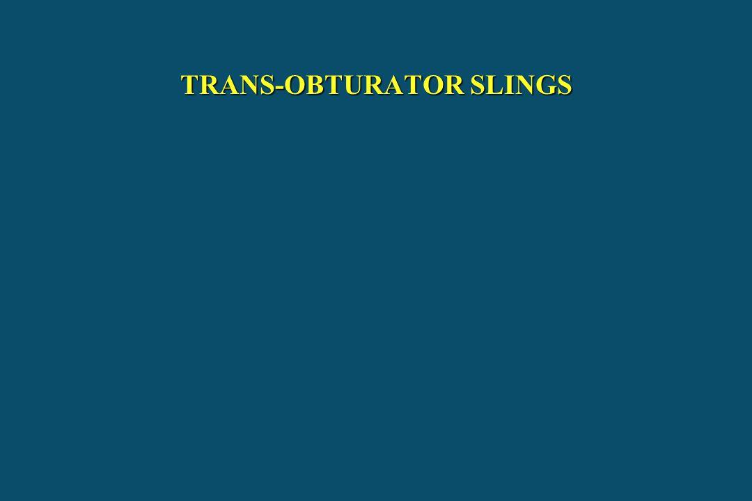 TRANS-OBTURATOR SLINGS