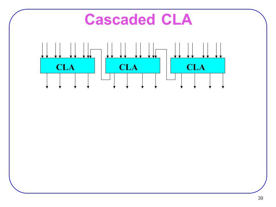 Cascaded CLA CLA CLA CLA