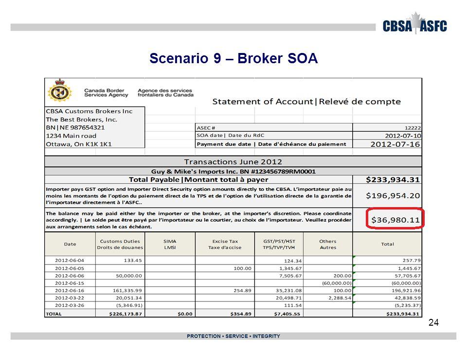 Scenario 9 – Broker SOA