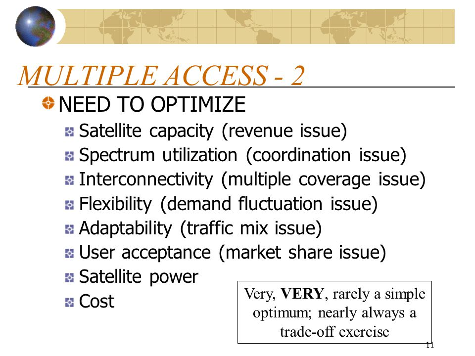 MULTIPLE ACCESS - 2 NEED TO OPTIMIZE