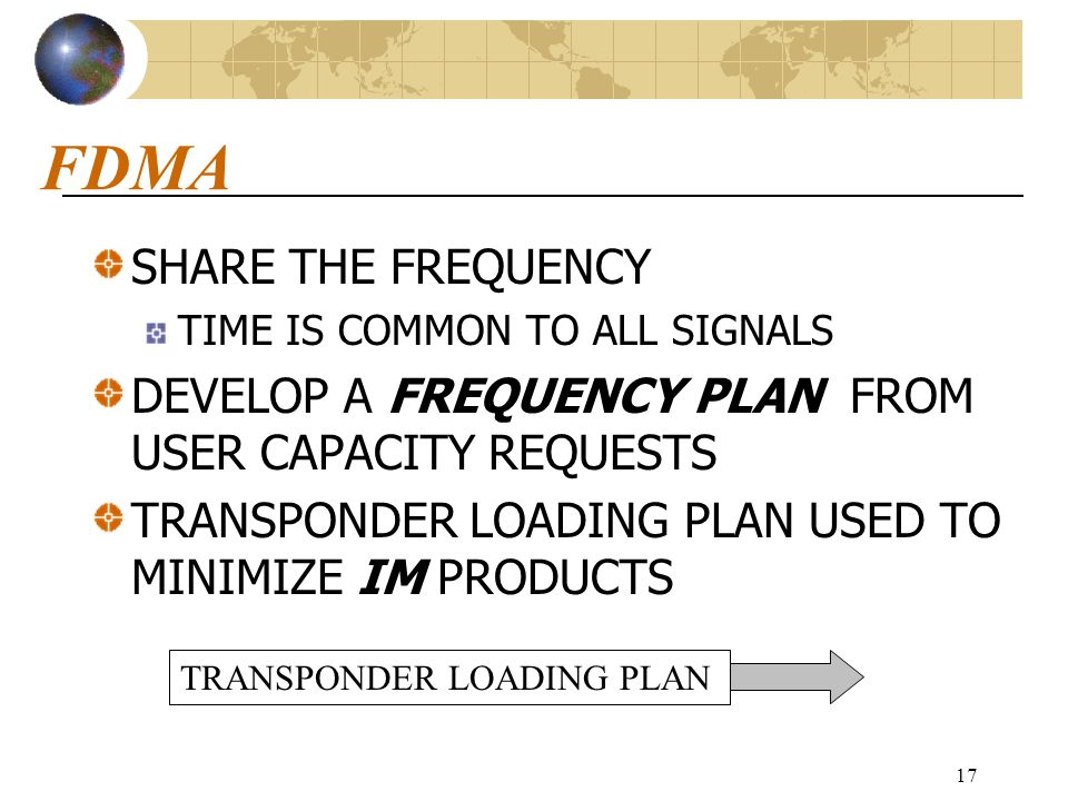 FDMA SHARE THE FREQUENCY