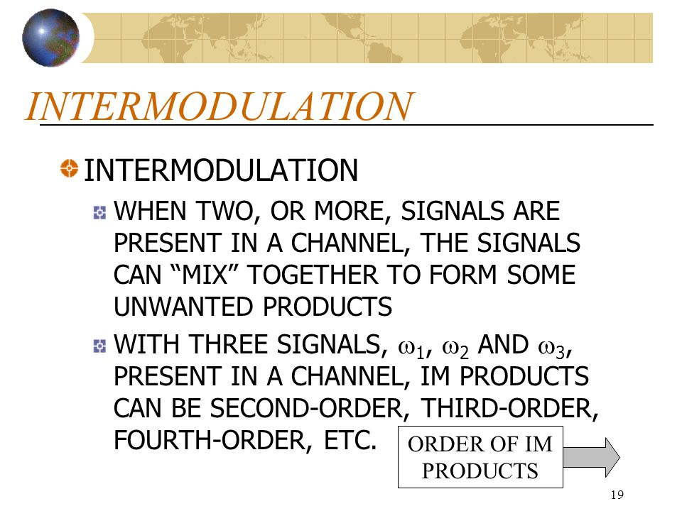 INTERMODULATION INTERMODULATION