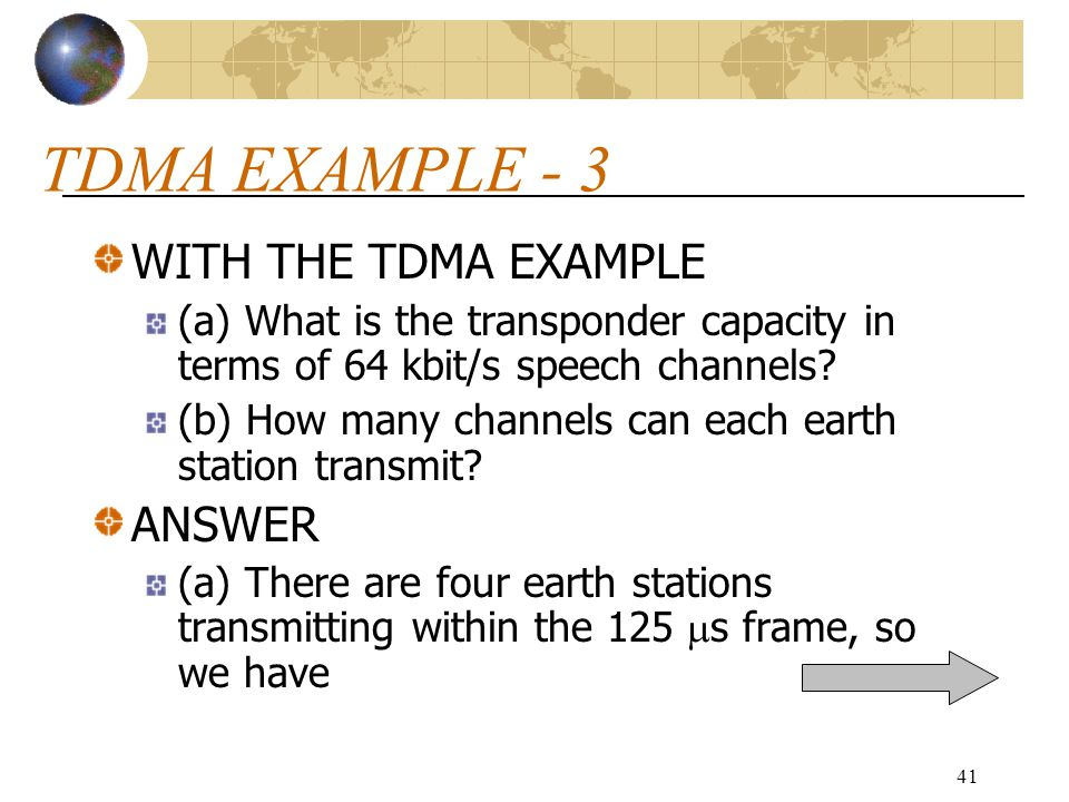 TDMA EXAMPLE - 3 WITH THE TDMA EXAMPLE ANSWER