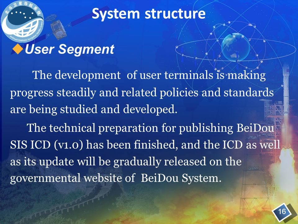 System structure User Segment