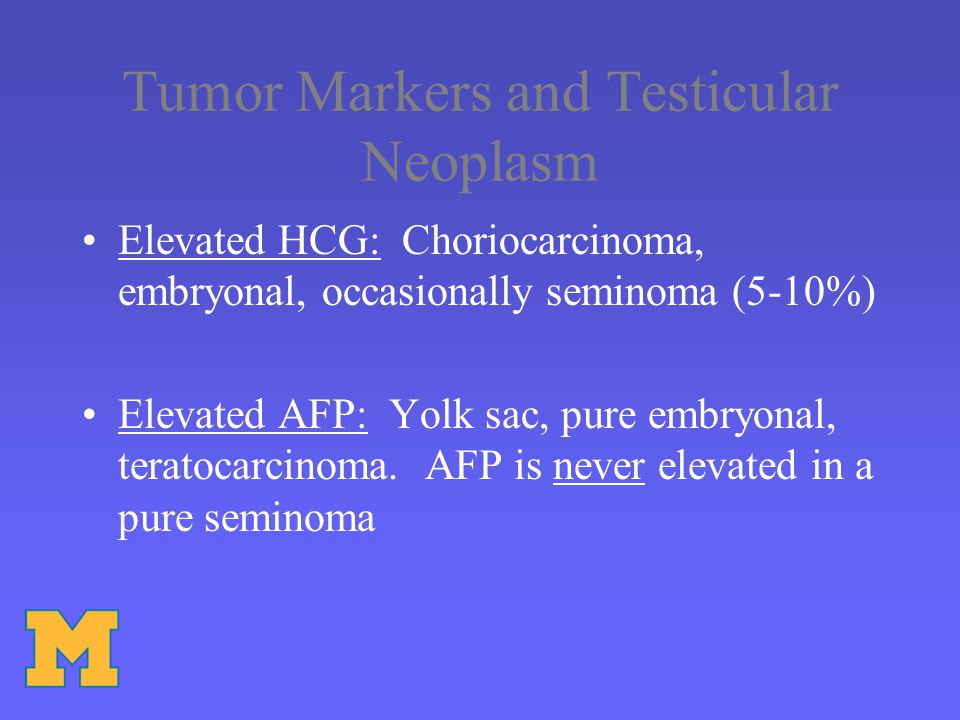 Tumor Markers and Testicular Neoplasm