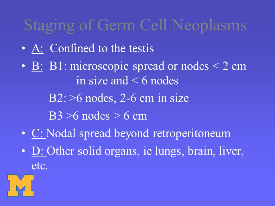 Staging of Germ Cell Neoplasms