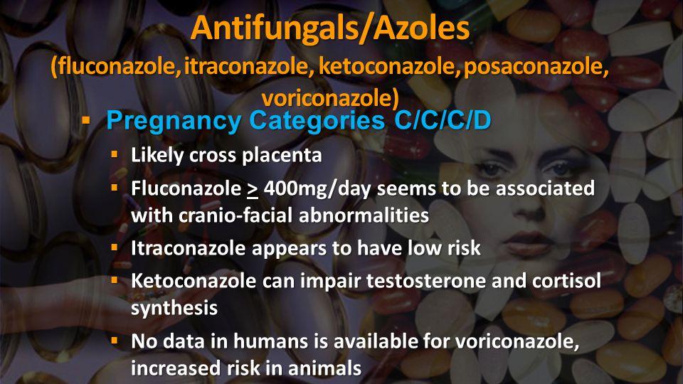 Antifungals/Azoles (fluconazole, itraconazole, ketoconazole, posaconazole, voriconazole)