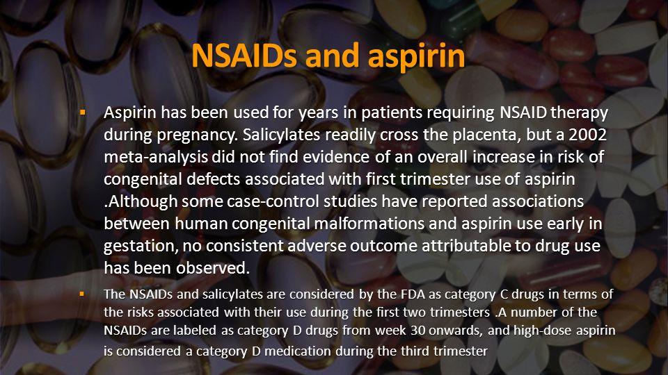 NSAIDs and aspirin