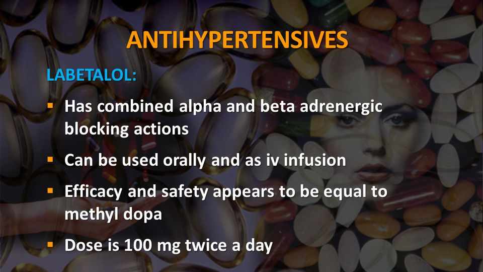 ANTIHYPERTENSIVES LABETALOL: