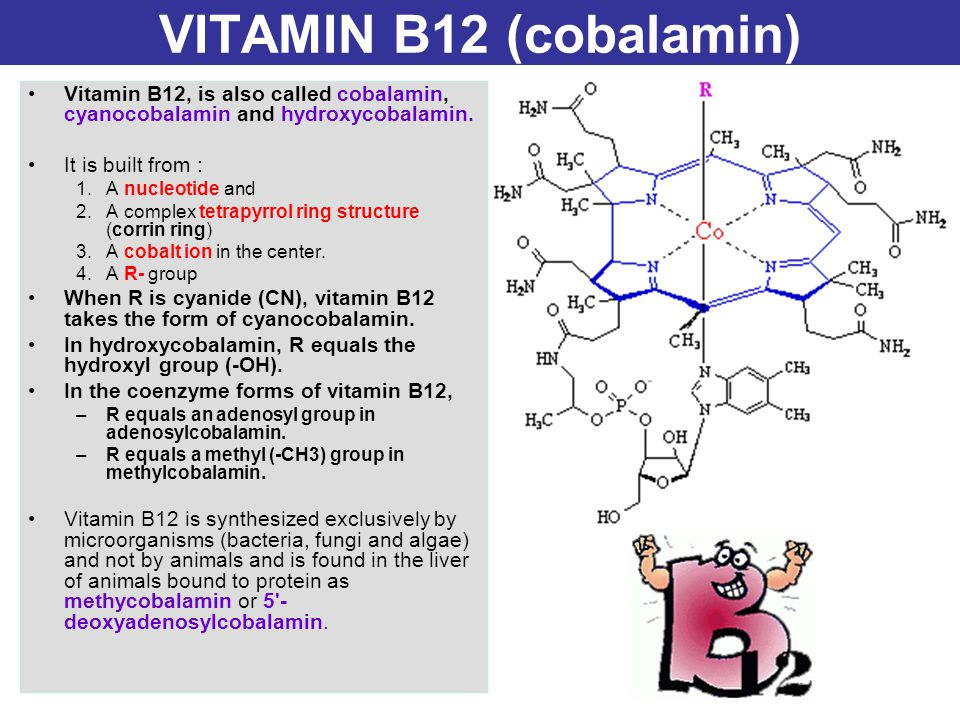 VITAMIN B12 (cobalamin) Vitamin B12, is also called cobalamin, cyanocobalamin and hydroxycobalamin.