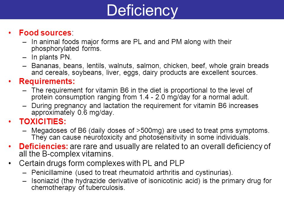 Deficiency Food sources: Requirements: TOXICITIES: