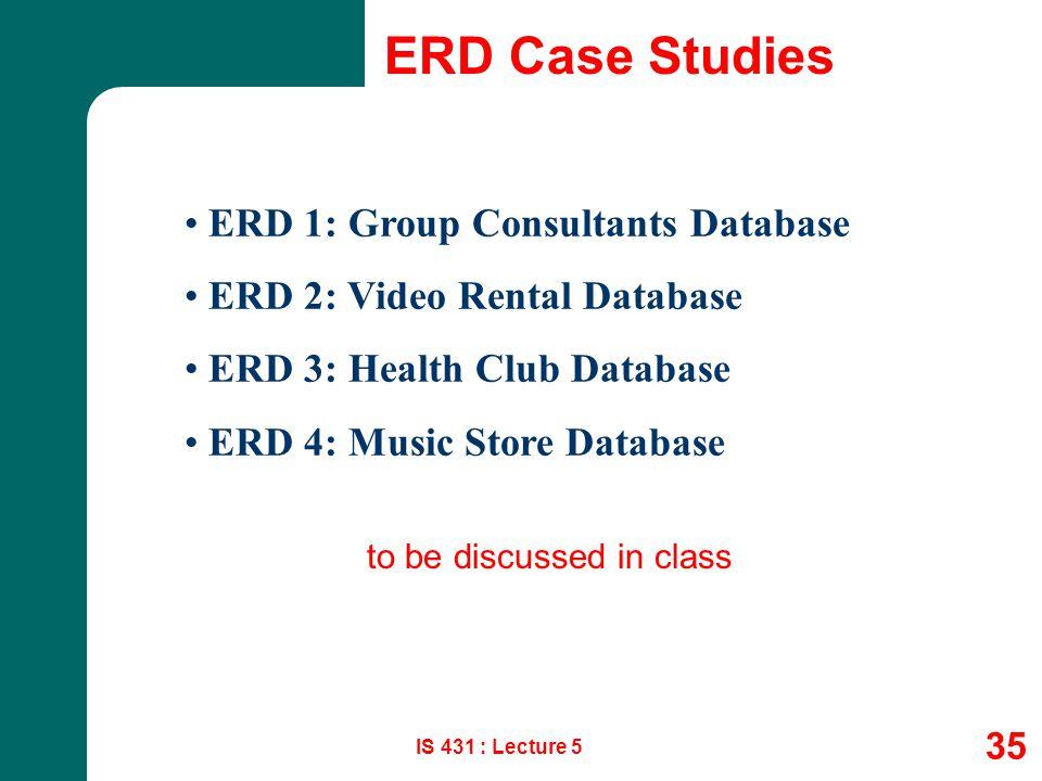 ERD Case Studies ERD 1: Group Consultants Database