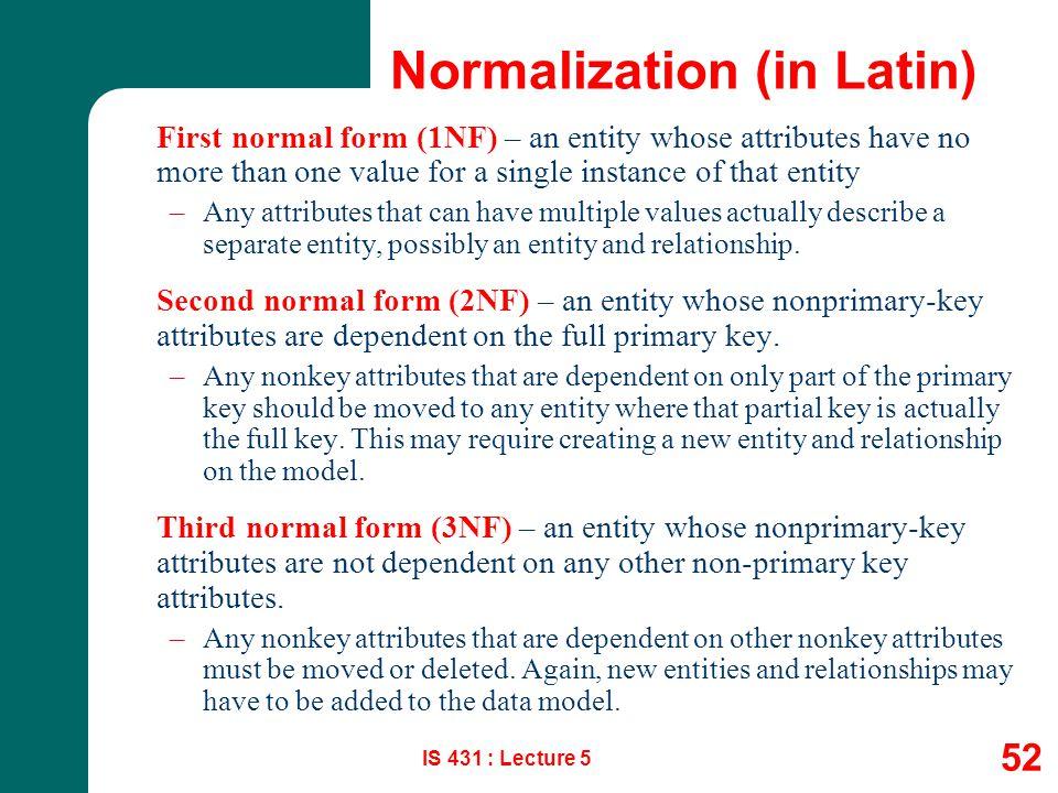Normalization (in Latin)