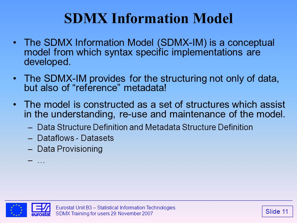 SDMX Information Model