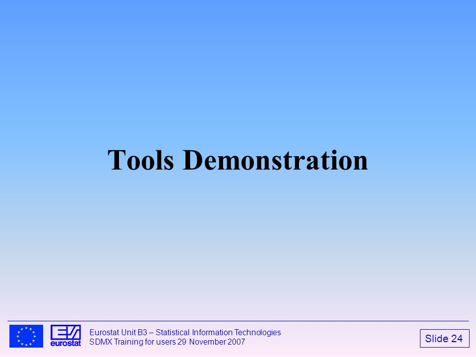 Tools Demonstration