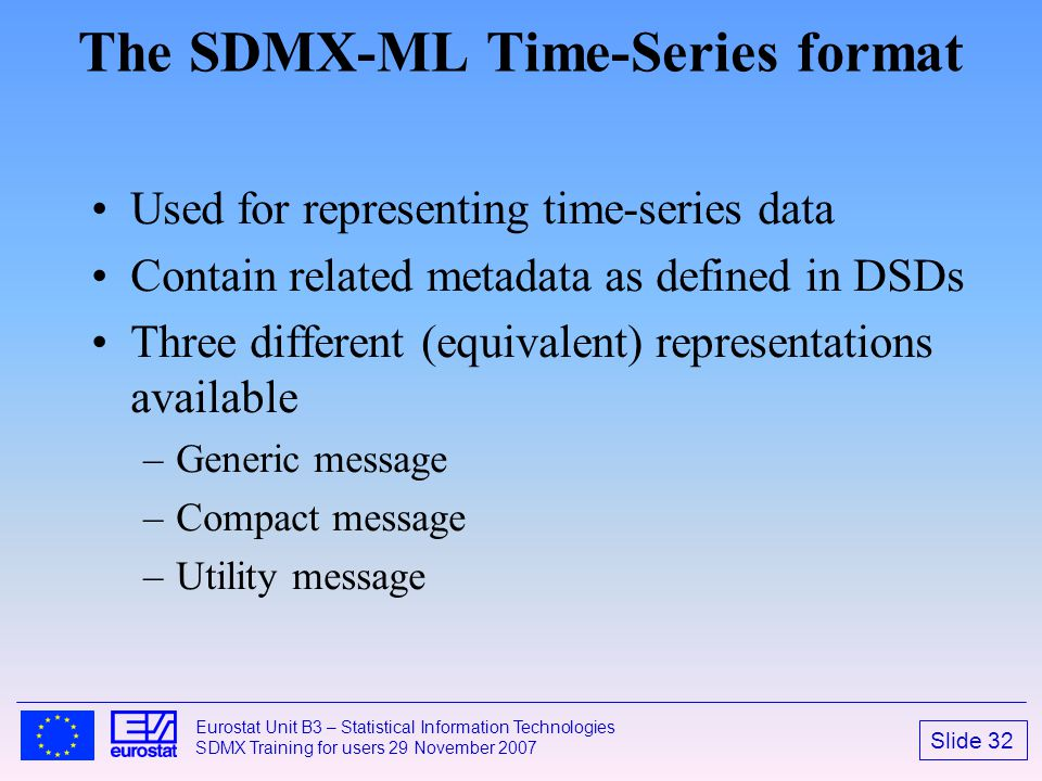 The SDMX-ML Time-Series format