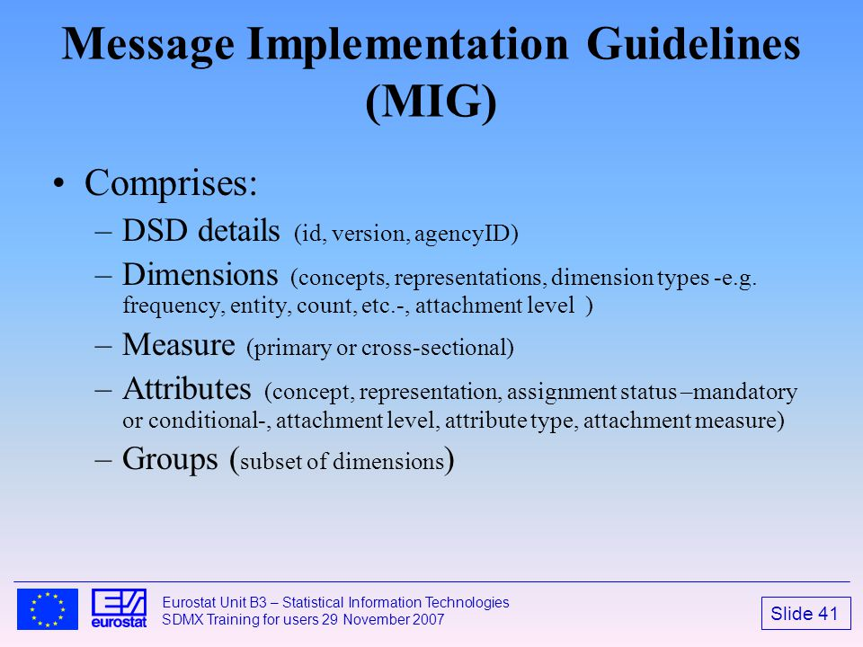 Message Implementation Guidelines (MIG)