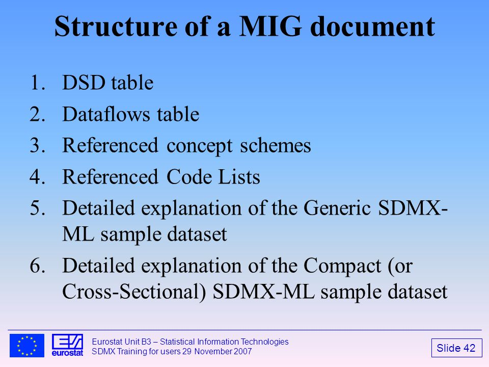 Structure of a MIG document