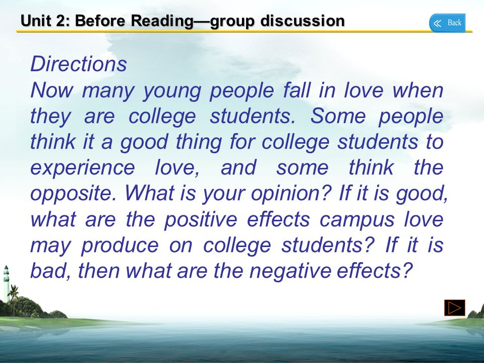 Unit 2: Before Reading—group discussion