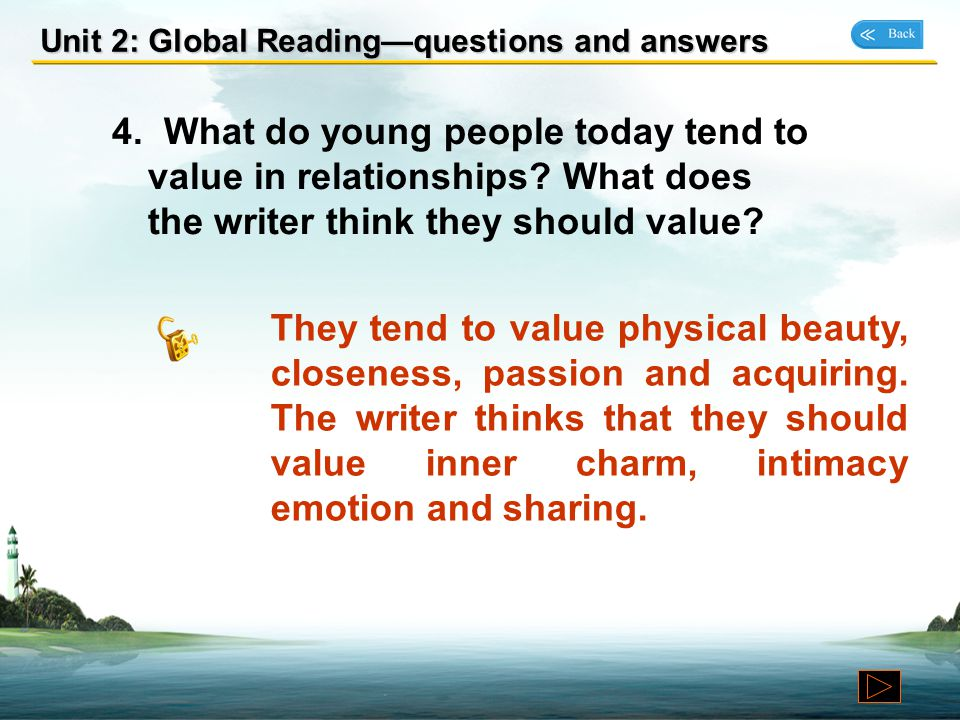 Unit 2: Global Reading—questions and answers