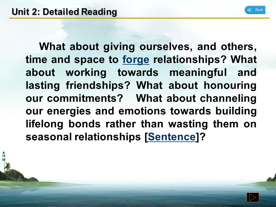 Unit 2: Detailed Reading