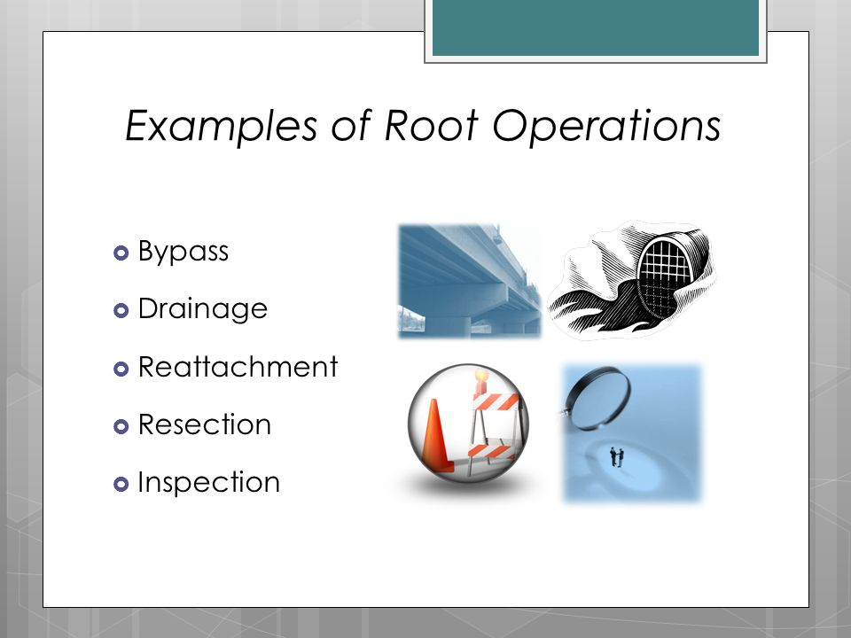 Examples of Root Operations