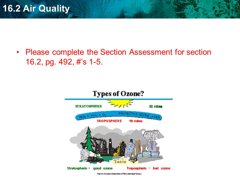 Please complete the Section Assessment for section 16. 2, pg
