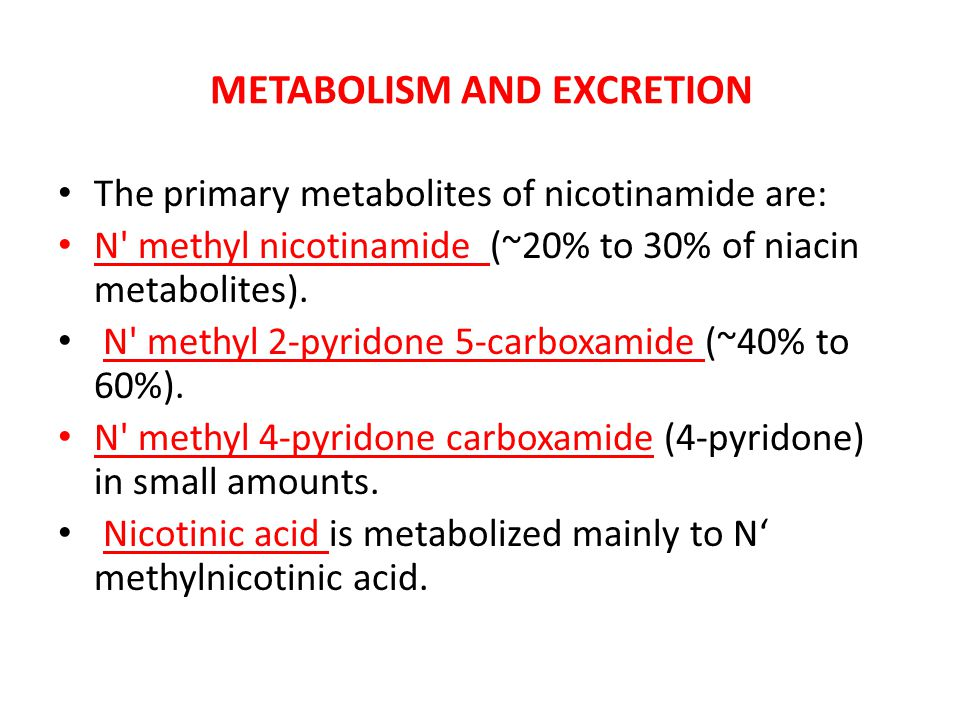 METABOLISM AND EXCRETION