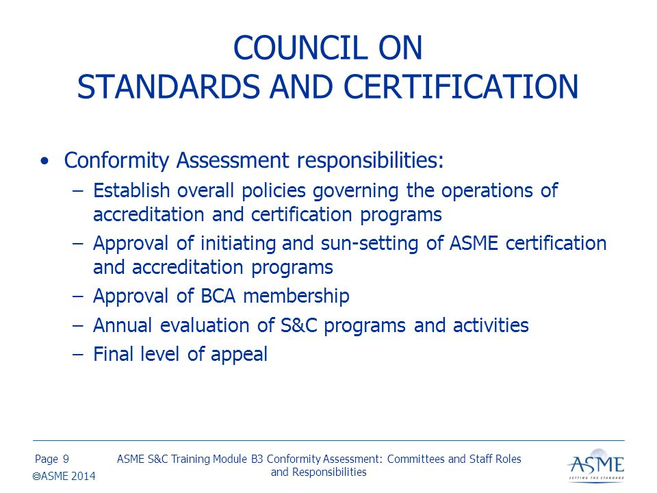BOARD ON CONFORMITY ASSESSMENT