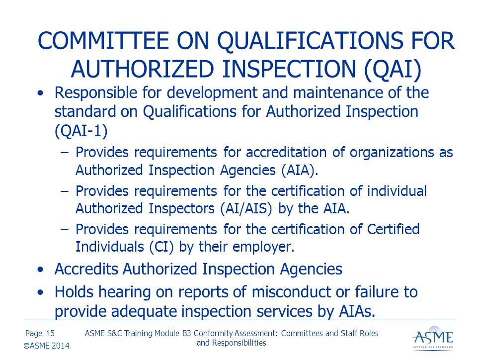 ACCREDITATION & CERTIFICATION COMMITTEES