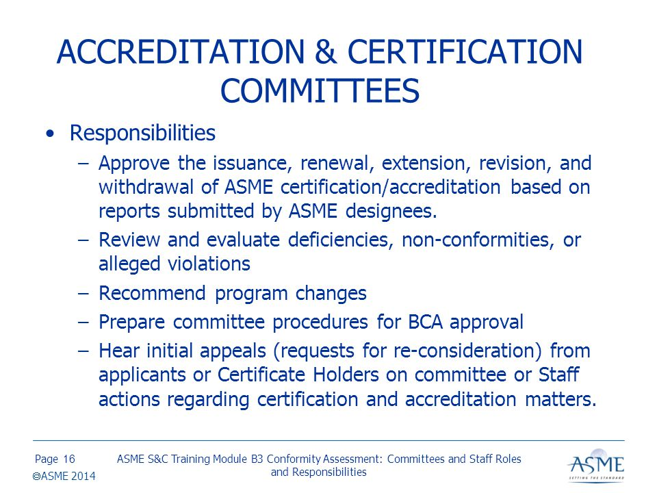 STANDARDS COMMITTEES Responsibilities