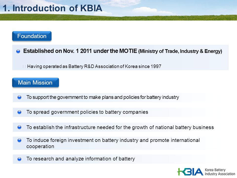 1. Introduction of KBIA Foundation