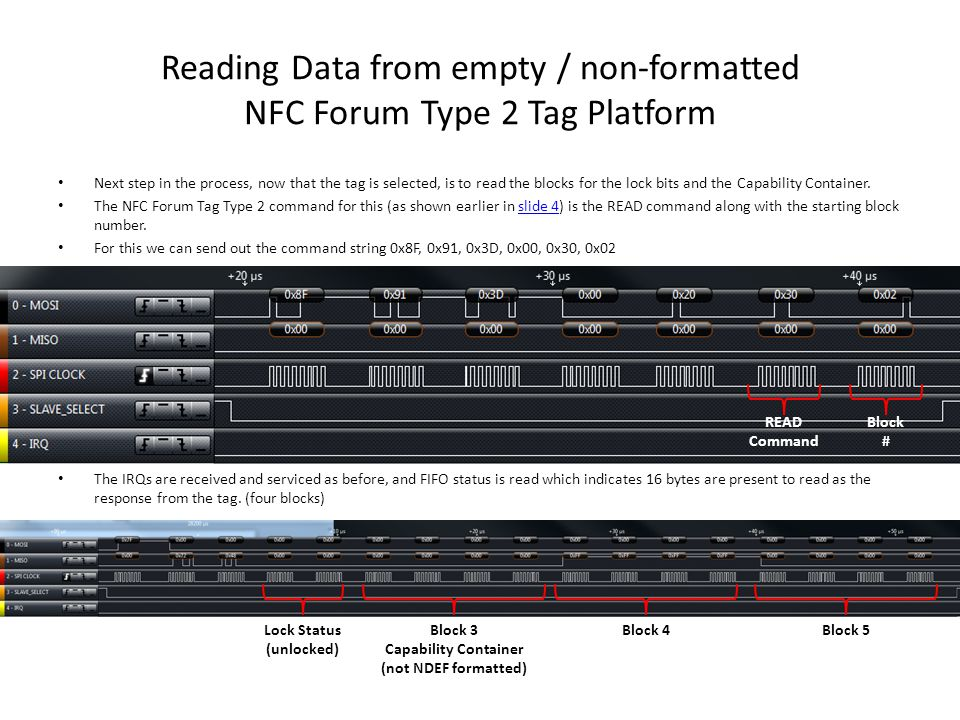 Reading Data from empty / non-formatted NFC Forum Type 2 Tag Platform