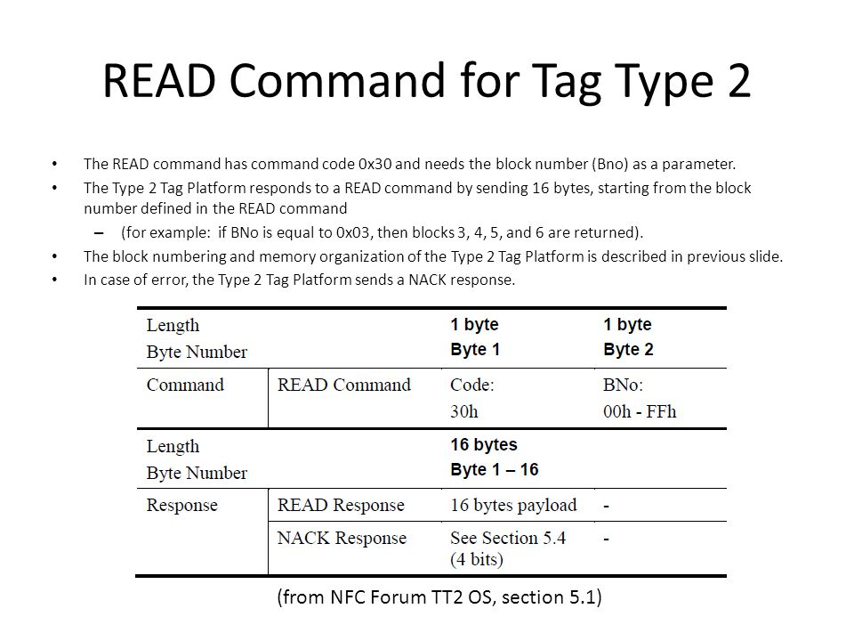 READ Command for Tag Type 2