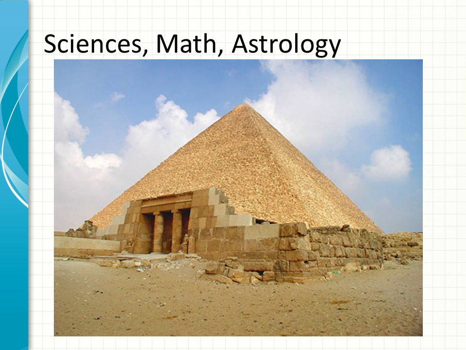 Sciences, Math, Astrology