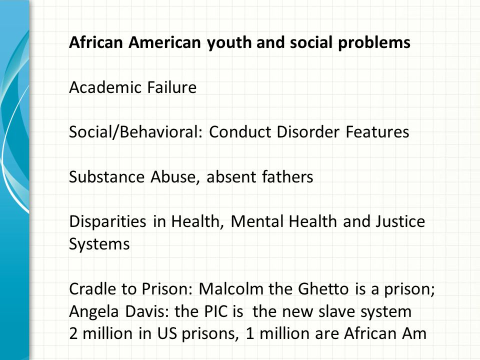 African American youth and social problems