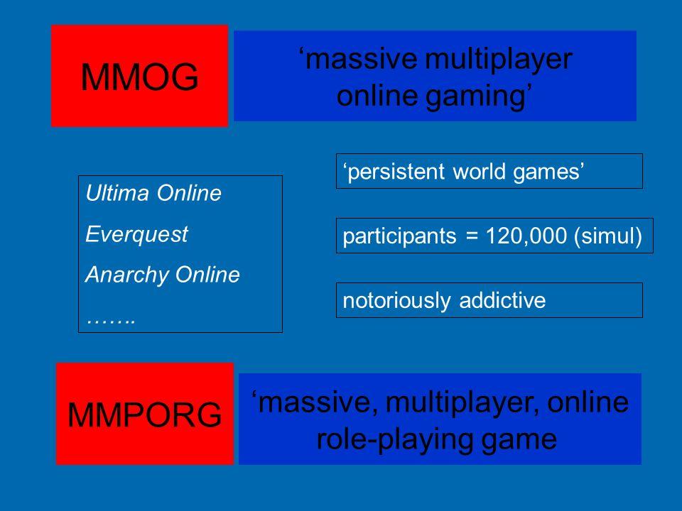 'massive, multiplayer, online
