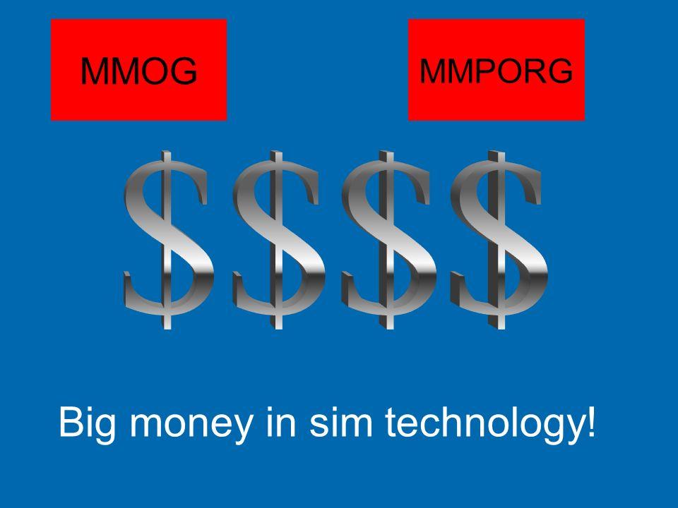 MMOG MMPORG $$$$ Big money in sim technology!