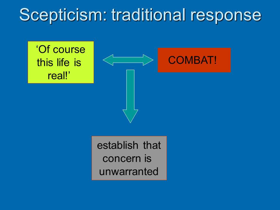 Scepticism: traditional response
