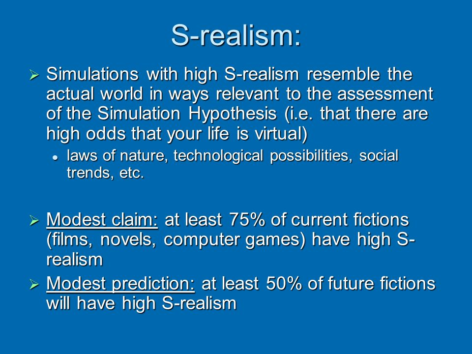 S-realism: