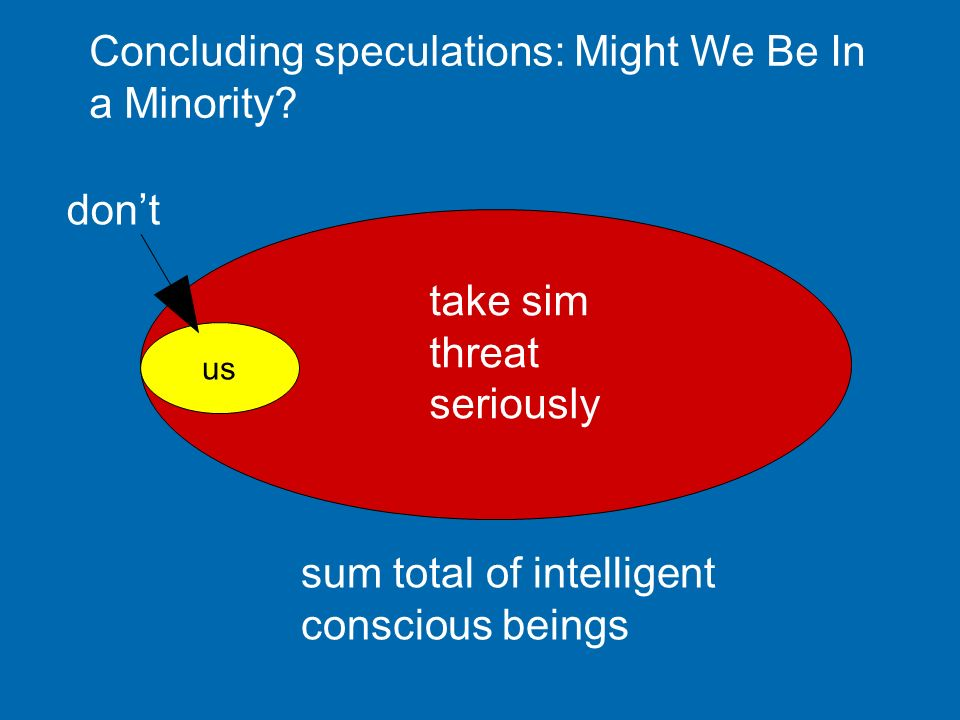 Concluding speculations: Might We Be In a Minority
