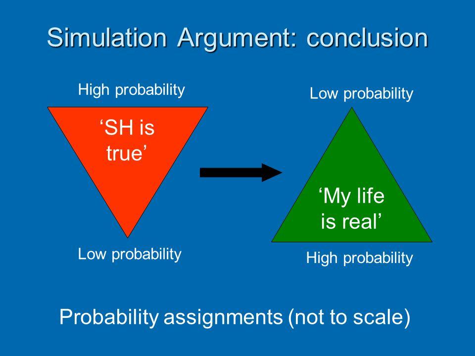 Simulation Argument: conclusion