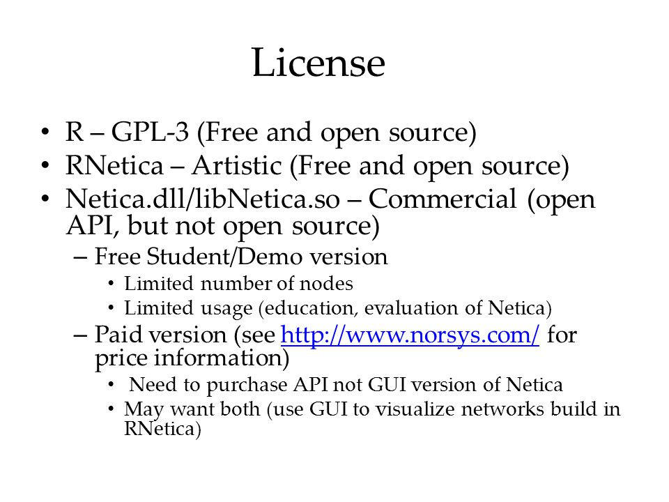 License R – GPL-3 (Free and open source)