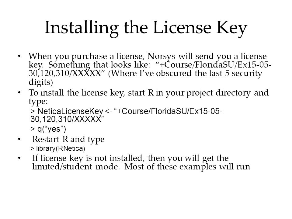 Installing the License Key