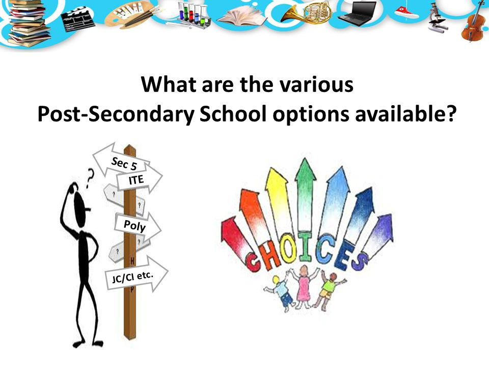 What are the various Post-Secondary School options available